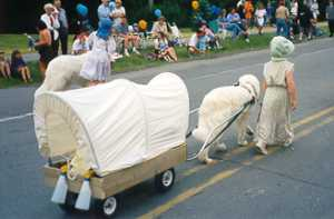 Danica carting with Blossom in the Heritage Day Parade.